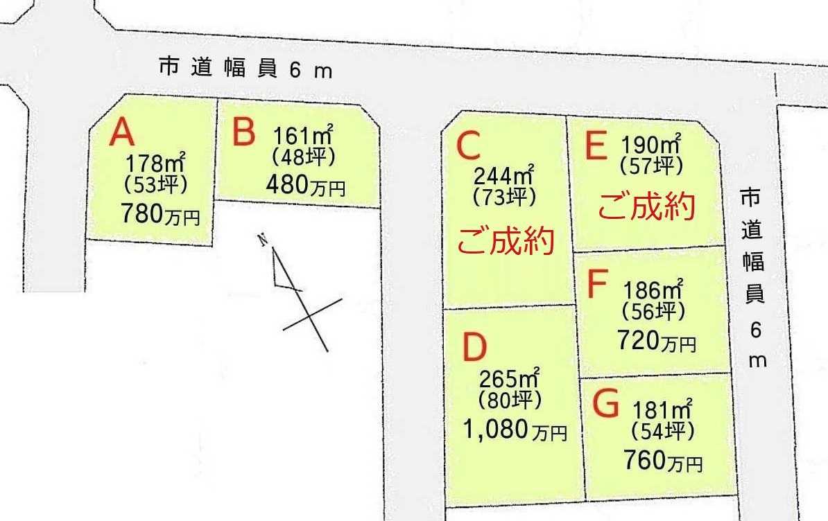 龍ケ崎市平台2丁目 -全7区画-