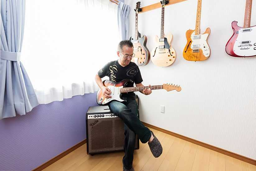 茨城県常総市I様 不二建設 高性能住宅 注文住宅 スキップフロア ガレージ 趣味室 ギター