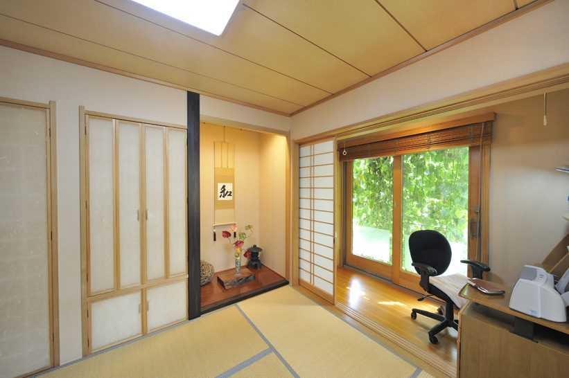 茨城県つくば市Y様 不二建設 パッシブハウス 太陽光発電 ソーラー 和室 畳 床の間 仏壇置き場 広縁 書斎 木製サッシ