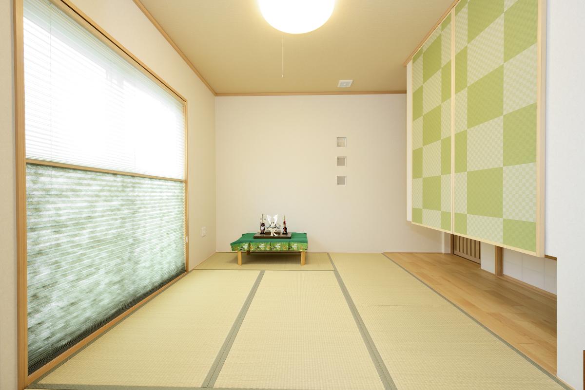 茨城県牛久市S様 不二建設 太陽光発電 高性能住宅 注文住宅 和室 吊押入 ガラスブロック ブラインド