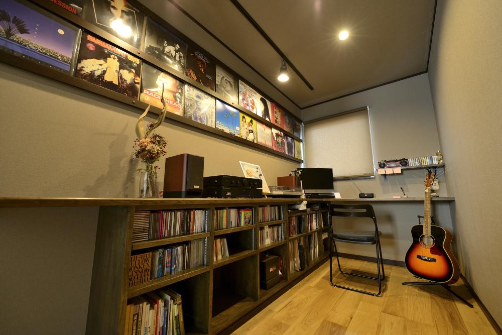 茨城県取手市E様 不二建設 高性能住宅 注文住宅 書斎 趣味室 間接照明