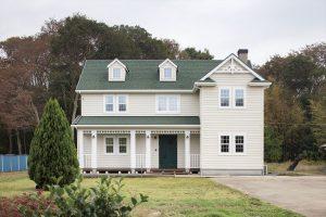 茨城の輸入住宅の建築実例(外観)~アメリカンスタイルの家(不二建設)