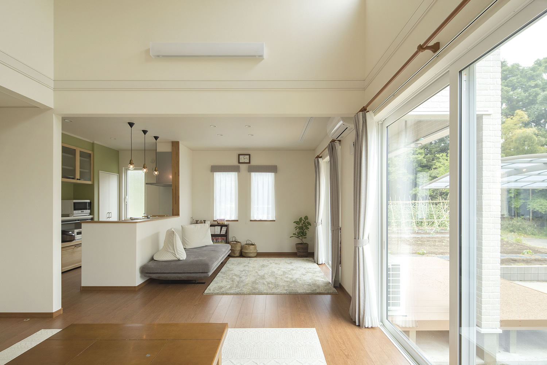 平屋の二世帯住宅の施工事例:水回り共用型2