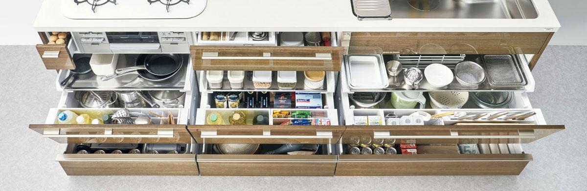 キッチンの収納例