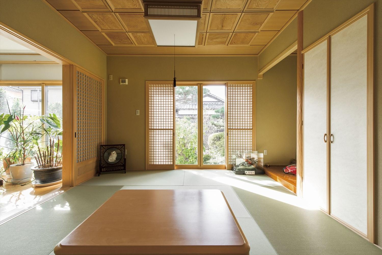 格天井が魅力的な和室空間